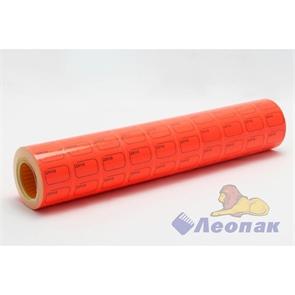 Этикет-лента 30*20 (красная,прямоугольная) 10х10кмп