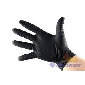 Перчатки нитриловые неопудренные ЧЕРНЫЕ  М  (100шт/1уп)