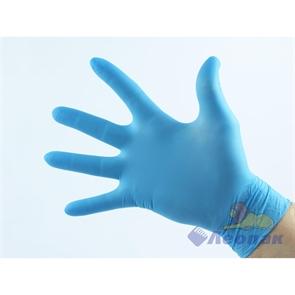 Перчатки латексные Gloves S синие повышенной прочности (50шт/10уп)