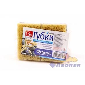 Губка GRIFON из поролона для тефлоновой посуды (2шт/20уп) 900-007
