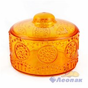 Сахарница  Каприз  с крышкой 0.6л оранжевая (28шт)