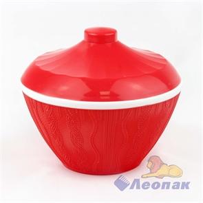 Сахарница  Меланж  с крышкой 0,5л (красный) (24шт)
