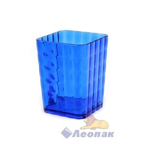 Стакан для зубных щеток  Кристалл  (синий) (22шт)