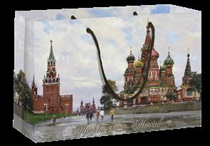 Пакет бумажный 350х240+70  Кремль , г.Москва