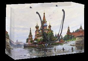 Пакет бумажный 350х240+70  Собор Василия Блаженного , г.Москва