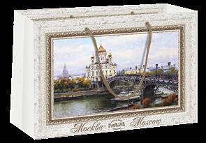 Пакет бумажный 350х240+70  Храм Христа Спасителя , г.Москва