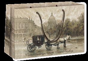 Пакет бумажный 350х240+70  Дворцовая площадь , г.Санкт-Петербург