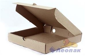 Коробка под пиццу 250*250*40мм Т11 микрогофра, серая (50шт/1уп) МК