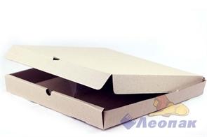 Коробка под пиццу 340*340*40мм Т11 микрогофра, серая (50шт/1уп) МК