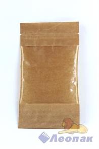 Пакет бумажный 105х185+(30+30)  Дой-пак  с ЗИП замком и окошком (50шт/уп)