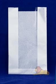 Пакет бумажный VB 350*200*90  (100/1000шт) Белый Б/П с окном 100мм