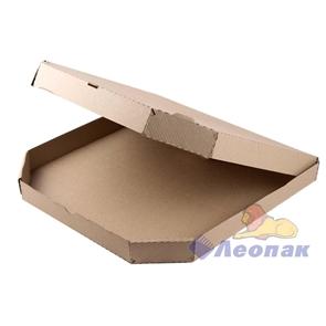 Коробка под пиццу 400*400*40мм Т11 микрогофра, серая ТРАПЕЦИЯ (50шт/1уп) МК