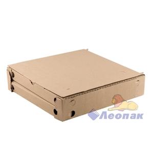 Коробка под пиццу 320*320*35мм Т11 Сет БОКС-ДНО,ТРАПЕЦИЯ, серая (100шт/1уп) МК