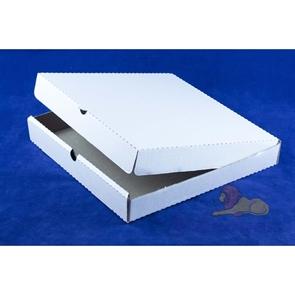 Коробка под пиццу 300*300*40мм Т11 микрогофра, белая (50шт/1уп)