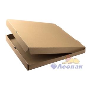 Коробка под пиццу 400*400*40мм Т11 микрогофра, серая (50шт/1уп) МК
