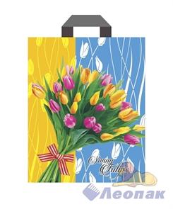П-петл. ручка ламинир. 28х34-60мкм  Солнечные тюльпаны   (25/500) Нео-Пак