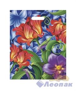 П-выр.ручка 38х47-60мкм  Flowers   (25/1000) Нео-Пак