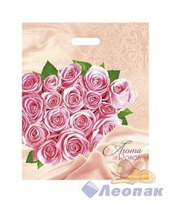 П-выр.ручка 38х47-60мкм  Розовые розы   (25/1000) Нео-Пак