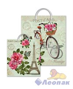 Пакет с пластик.ручками 44х40  Парижское утро  (100) ТИКО