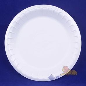 Тарелка банкетная вспененная D 225 белая (100шт/1200 шт)