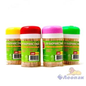 Зубочистки в пластик.баночке (4б/1уп/60уп) GRIFON 400-003