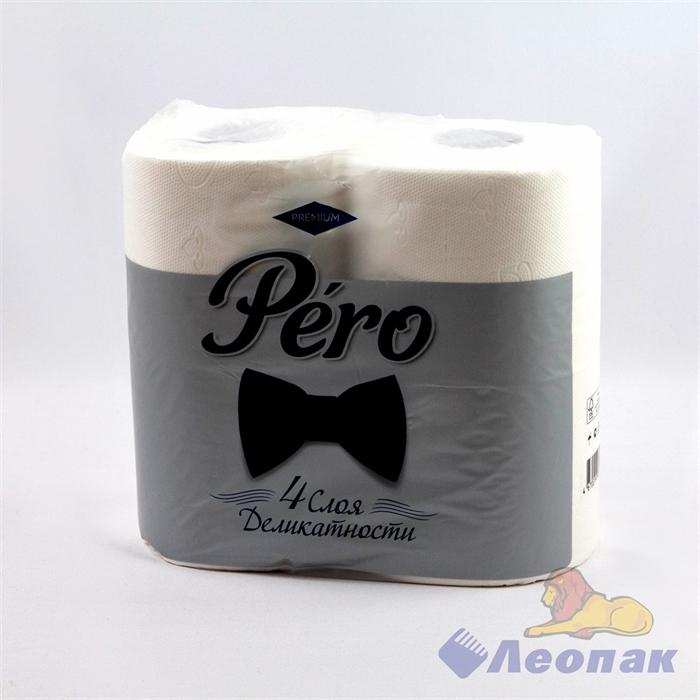 Бумага туалетная Pero 4-х сл.(4шт/14уп) - фото 10470