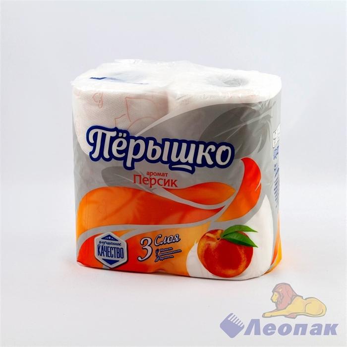 Бумага туалетная ароматизированная  Перышко Персик  3-х сл.(4шт/21уп) - фото 10478