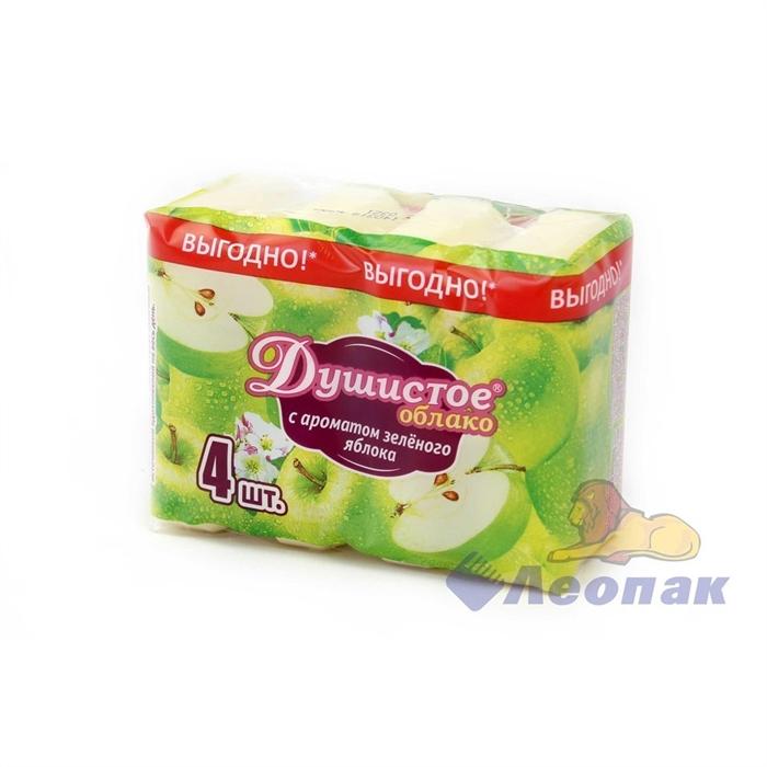 Мыло туалетное  Душистое облако  с ароматом зеленого яблока (4*70гр/уп) (18уп) - фото 4701