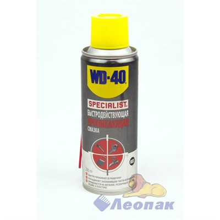 СМАЗКА WD-40 SPECIALIST (быстродействующая, проникающая) (200г) (12шт) SP70113 - фото 4778