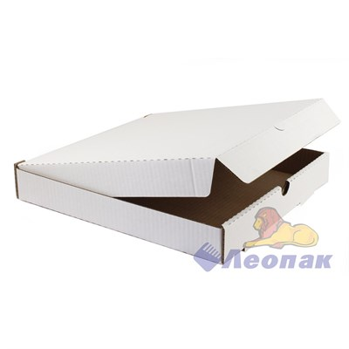 Коробка под пиццу 320х320х45 (50шт/1уп) белая - фото 4903