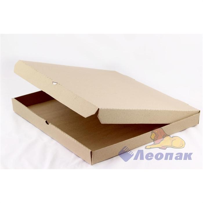 Коробка под пиццу 400х400х40 (50шт/1уп) серая/К - фото 4906