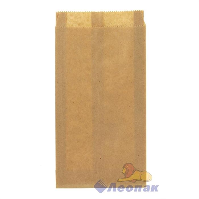 Пакет бумажный 210х110х30мм  (100шт/уп) КРАФТ Б/П - фото 6170