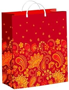 Пакет мягкий пластик с пластик.ручками 40х30   Хохлома  (40) ТИКО