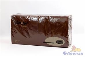 Салфетка коричневая 33х33см (250шт/8уп) 2-слойн,  Папирус