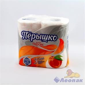 Бумага туалетная ароматизированная  Перышко Персик  3-х сл.(4шт/21уп)