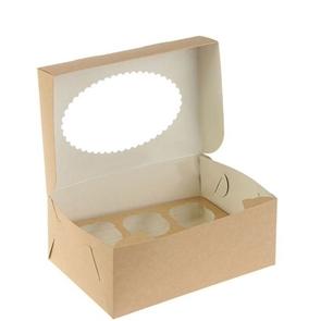 Упаковка ECO MUF 6 (150шт/1кор)  250*170*100 д/маффинов с окном
