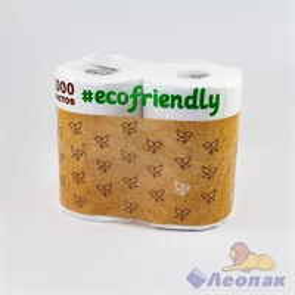 Бумага туалетная  Ecofrendly  белая 2-х сл.(4шт/9уп)