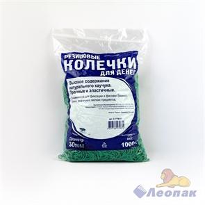Резинка банковская 30мм 1кг (1/20уп/1кор) зеленая