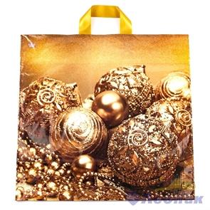 П-петл.ручка 42х44-70мкм  Бронзовые шарики  ПНД (300) ТИКО