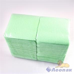 Салфетка салатовая-пастель ЭКО (400шт/12уп) 24х24см  арт.Б3151602