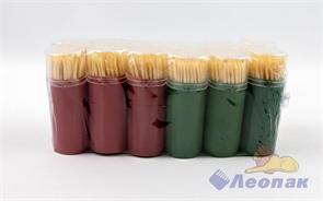 Зубочистки в пластик.баночке №2 (80шт-1б/1уп-12б/40уп) АЛЬЯНС