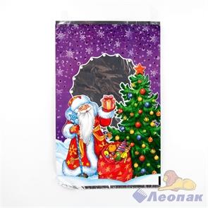 Пакет фольгированный 25х40см  Добрый праздник  (100шт/20уп) /Интер