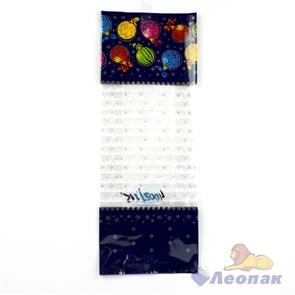 Пакет с центральным швом, прозрачный  Разноцветные шары   (13,5+2*3)*38/60 мкм (50/500) / Интер