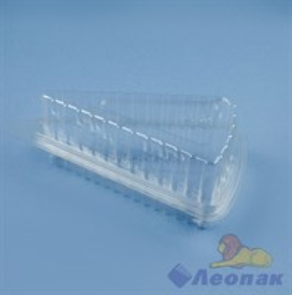 ТОРТИКИ-контейнер прозрачный для 1 кусочка торта 170*90*60 (нар),130*70*60 (внут)(800) комплект