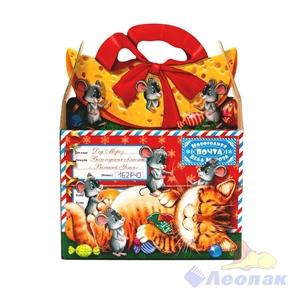 Коробка н/г  Новогодняя почта  295х233х120, 40шт./пач (1,2-1,4кг)
