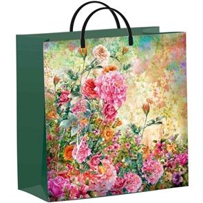 Пакет мягкий пластик с пластик.ручками 30х30   Русский сад  (40) ТИКО