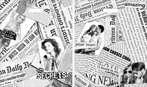 П-выр.ручка 38х45-60мкм  Газетный микс  ламинат (500) ТИКО