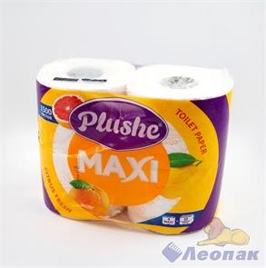 Бумага туалетная  PLUSHE Max  Citrus fresh  белая 2-х сл.(4шт/9уп)