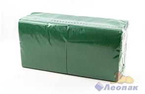 Салфетка зеленая 33х33см (400шт/6уп) 1-слойная  Папирус