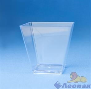 Чашка  Ромб  55*56мм-95мл PS прозрачная (25шт/1уп/20уп) /Покровский полимер 5011